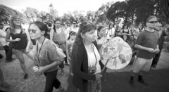 Idle No More supporters gathered at Memorial Park on Aug. 14.