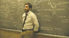 Jake Gyllenhaal  is Adam Bell, a depressed college history teacher who begins the film with a lecture on how history tends to repeat itself.