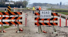 Highway 227 over the Portage Diversion was closed during the 2011 flood.