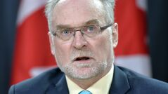 Auditor General of Canada Michael Ferguson speaks in Ottawa on Tuesday May 6, 2014. THE CANADIAN PRESS/Adrian Wyld