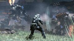 This photo provided by Electronic Arts/Respawn Entertainment shows a scene from the video game,