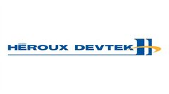 The logo of Heroux-Devtek, is shown. THE CANADIAN PRESS/HO