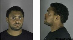 Dustin Byfuglien's mug shot from his arrest in Minneapolis.