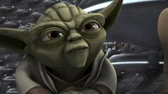 This image provided by Netflix shows Yoda in a scene from an episode of the sixth season of