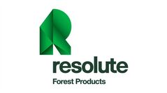 The corporate logo of Resolute Forest Products (TSX:ABH, formerly AbitibiBowater Inc. is shown. THE CANADIAN PRESS/HO