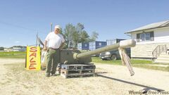 Westbourne army surplus store operator Al McMaster says farmers should