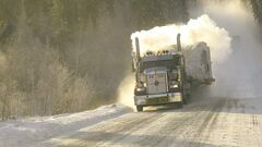 It was tough on the nerves when ice-road truckers came barreling past the Sprinters in a cloud of snow.