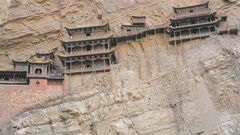 Photos by Carol Sanders / Winnipeg Free PressXuankong Temple, also known as the Hanging Temple, was built on a cliff at the foot of Hengshan Mountain. Time magazine listed it among the 10 most dangerous pieces of architecture in the world.
