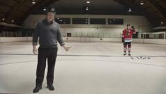 Winnipeg-born Blackhawk Jonathan Toews used sponge pucks during his commercial shoot at the River Heights arena last month.