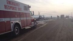 The collision happened at an uncontrolled crossing south of the Trans-Canada Highway, west of Carberry.