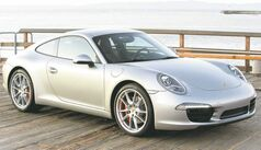 The new Porsche 911 body is constructed of an aluminum and steel blend.