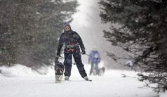 Erica Seymour competes in the  6th annual Snow Motion Classic, in Birds Hill Park, Sunday.