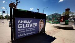 MP Shelly Glover's ads have got her in trouble with Elections Canada. She's fighting the agency in court.