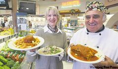 Piazza De Nardi owner Maria De Nardi and head chef Tony Rampone serve tasty takeout.