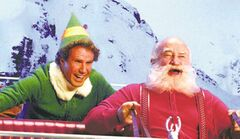 Will Ferrell and Ed Asner in Elf