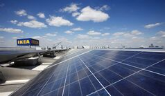 Solar panels line the roof of Ikea's Brooklyn store, April 29, 2011 in New York. THE CANADIAN PRESS/AP, Mark Lennihan