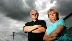 Greg Downey (left) and Brenda deMoissac are some of at least 26 investors who are upset with Gary Palmer who swindled them out of around $1.5 Million.