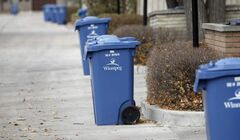 Recycling carts remain full days after crews were scheduled to pick them up in some areas.