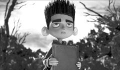 FILE - This undated publicity file photo of a film image released by Focus Features shows the character Norman, voiced by Kodi Smit-McPhee, in the 3D stop-motion film,