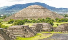 The 66-metre-high Pyramid of the Sun dominates the skyline at Teotihuacan near Mexico City.
