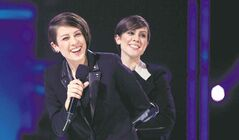 Canadian twin-sister act Tegan and Sara, who are lesbians, have had great success, but there are no openly gay artists ruling the charts the way superstars Rihanna, Katy Perry and Justin Timberlake do.