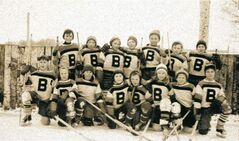Gary Watkins (top row, left) and his 1958 Bourkevale Bruins championship team.