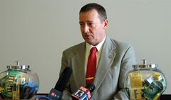 FILE - Rep. Paul Ray, R-Clearfield, is seen as he makes remarks during a news conference in this March 6, 20013 file photo, at the Utah State Capitol, in Salt Lake City. In the wake of a botched lethal injection in Oklahoma last month, Ray says he believes a firing squad is a more humane form of execution. And he plans to bring back that option for criminals sentenced to death in his state. He plans to introduce his proposal during Utah's next legislative session in January. (AP Photo/Michelle Price, File)
