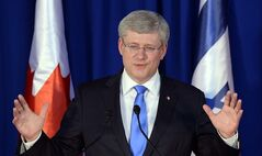 Prime Minister Stephen Harper in Jerusalem, Israel on January 21, 2014. THE CANADIAN PRESS/Sean Kilpatrick