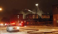 Crews battle an early-morning condo complex fire in the St. Matthews neighbourhood.