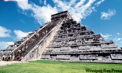 The Great Pyramid at Chichen Itza.