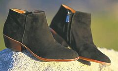 Sam Edelman Petty black suede boots.
