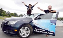 Lisa Calvi and Garry Sowerby made the record during a cross-Canada trek in a Chevrolet Cruze diesel. (Garry Sowerby/Postmedia News)