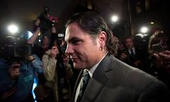 Sen. Patrick Brazeau arrives at the Senate on Parliament Hill in Ottawa on Monday, October 28, 2013. The lawyer for Brazeau says the alleged victims in an assault and threats case against his client want to withdraw their complaints THE CANADIAN PRESS/Sean Kilpatrick