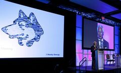 Husky Energy CEO Asim Ghosh speaks in Calgary, on May 7, 2013.THE CANADIAN PRESS/Jeff McIntosh