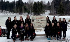 The Dakota Lancers visit the Lond Pond in Windsor, N.S., believed to be the first place that hockey was played.