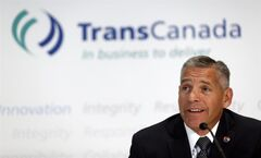 TransCanada CEO Russ Girling attends a news conference in Calgary, Alta., Thursday, Aug. 1, 2013. TransCanada Corp.'s CEO sees opportunities to build new oil pipelines in Mexico, which is poised to end its government's monopoly on energy development and open its oilfields up to foreign players. THE CANADIAN PRESS/Jeff McIntosh