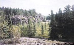 A typical view along the Mantario Trail.