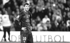 Barcelona's Lionel Messi can't help but look pleased during his record-setting performance in a match against Betis at the Benito Villamarin stadium in Seville on Sunday.