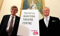 Tom Hendry (left) with Gordon Pinsent celebrate the new RMTC in 2010.