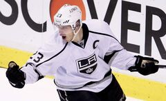 Los Angeles Kings right wing Dustin Brown.