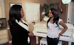 In this undated image from video released by Harpo, Inc., host Oprah Winfrey, left, is shown with Bobbi Kristina, daughter of the late singer Whitney Houston during an interview in Atlanta, Ga. The exclusive interview will be shown on