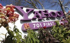 In this Jan. 4, 2012 photo, the Yahoo company logo is displayed at their headquarters in Sunnyvale, Calif. THE CANADIAN PRESS/AP, Paul Sakuma