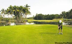 The Las Hadas golf course is immediately adjacent to the Barcelo Karmina Palace.