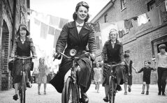 Jessica Raine (centre) stars in the  British drama Call the  Midwife.
