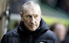 FILE - This is a Feb. 28, 2014 file photo of Hibernian's manager Terry Butcher. The Scottish soccer team Hibernian have sacked manager Terry Butcher following their relegation from the Scottish Premiership, the club have announced on their website Tuesday June 10, 2014. (AP Photo/ Graham Stuart/PA) UNITED KINGDOM OUT NO SALES NO ARCHIVE