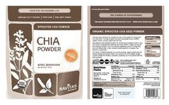 These undated handout images provided by the Centers for Disease Control and Prevention (CDC) shows labels for Chia Powder. Those who seek to make food healthier by adding chia powder should avoid several recalled brands that are linked to salmonella illnesses, the Centers for Disease Control and Prevention says. The CDC on Friday issued a warning to consumers who may use chia powder, made from ground dried chia seeds and often added to smoothies and other foods. Some of the recalled brands are Organic Traditions, Green Smoothie Girl, Navitas Naturals and Williams-Sonoma. Twenty-one people in 12 states from New York to California have salmonella illnesses linked to the chia powder, the CDC said. Canada is also investigating illnesses related to the outbreak. (AP Photo/CDC) The CDC said chia powder can have a long shelf life, so people should check to see if they have the recalled products in their homes.