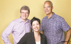 From left to right: Canstar Community News managing editor John Kendle, publisher and sales manager Michelle Pereira and redesign co-ordinator Kelvin Henderson.
