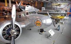 At left, a Lockheed Electra 10A on display in the Western Canada Aviation Museum. The museum will offer a guided tour on Remembrance Day.