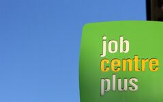 A general view of a sign outside a Jobcentre plus at Jarrow, England, Nov. 16, 2011. THE CANADIAN PRESS/AP, Scott Heppell