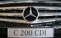 The radiator cowling of a Mercedes-Benz C 200 CDI is seen at a car dealer in Stuttgart, Dec. 2, 2009. THE CANADIAN PRESS/AP, Thomas Kienzle